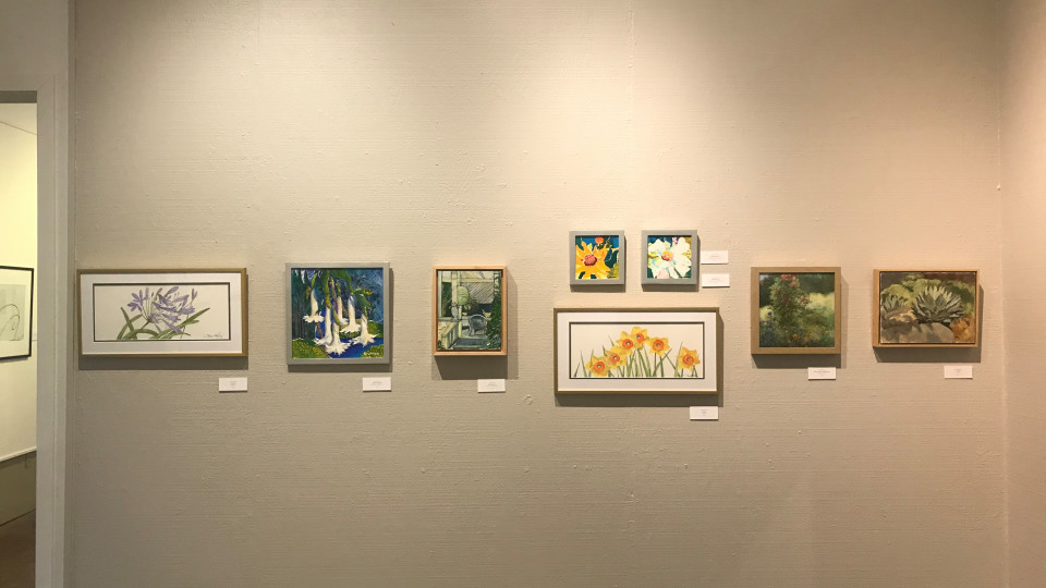 """Video of the Rogue Gallery's   """"Baldesarre's  Gardens Italio"""" , a  painting exhibition"""