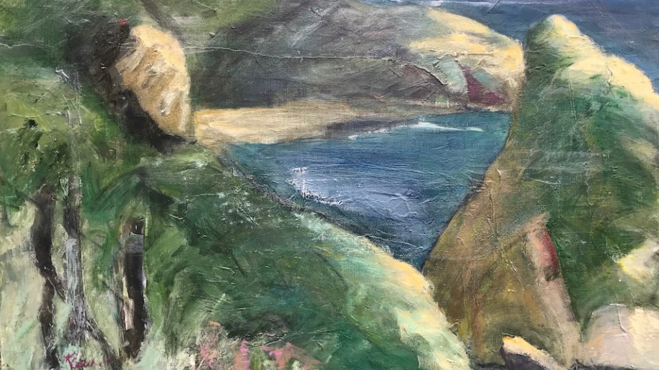 """Chetco Point"" is one of 5 paintings I have in the UVAA Plein Air Exhibition 2020 is currently showing"