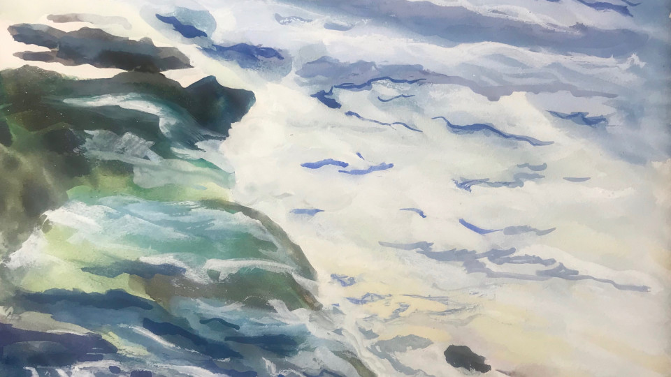 """The Economics of Art - """"Storm Surge"""" Second of six paintings currently in an exhibition around Oregon."""