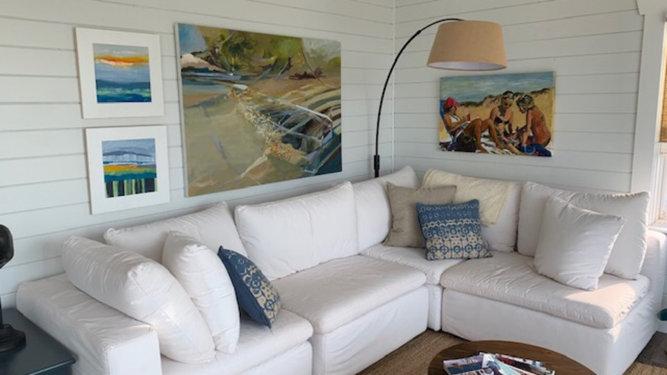 Two paintings in their beautiful new home!