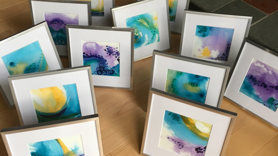 'OCEAN JOY' paintings are ready to order!