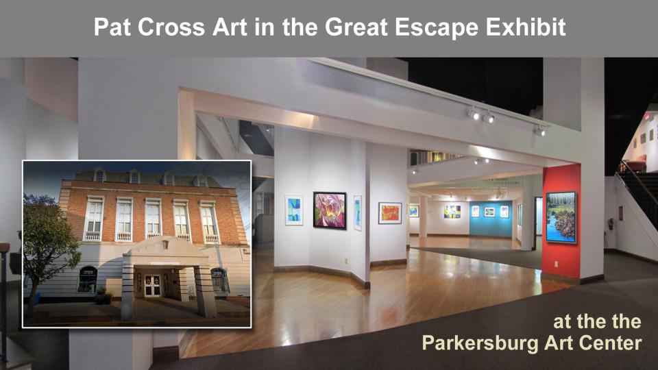 Pat Cross art in Great Escape Exhibit