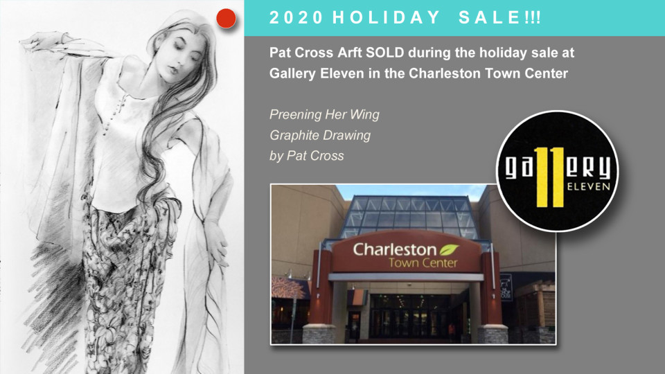 Pat Cross Art Sells at Gallery Eleven Holiday Event
