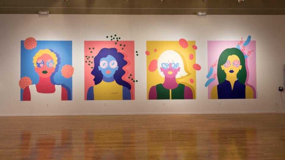 "Installation view of ""Connective Tissue"" by Amanda Phingbodhipakkiya (Photo by Mikayla Whitmore)"