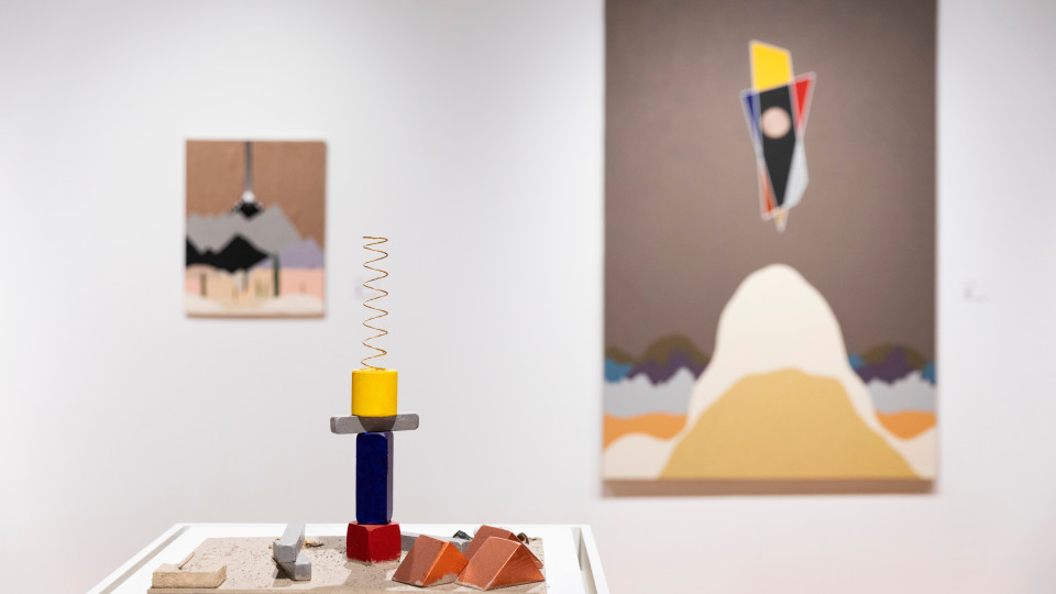 Installation shot of Chase R. McCurdy: Threads in Time (Photo by Lonnie Timmons III/UNLV Creative Services)