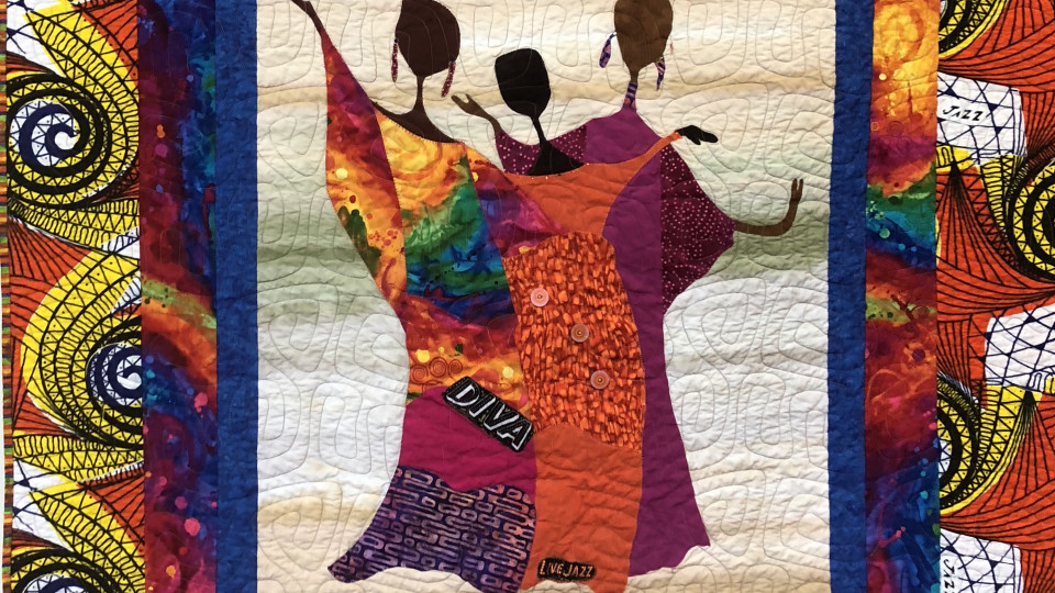 Jazz Festival Backup Singers Exhibits at Asheville Quilt Show