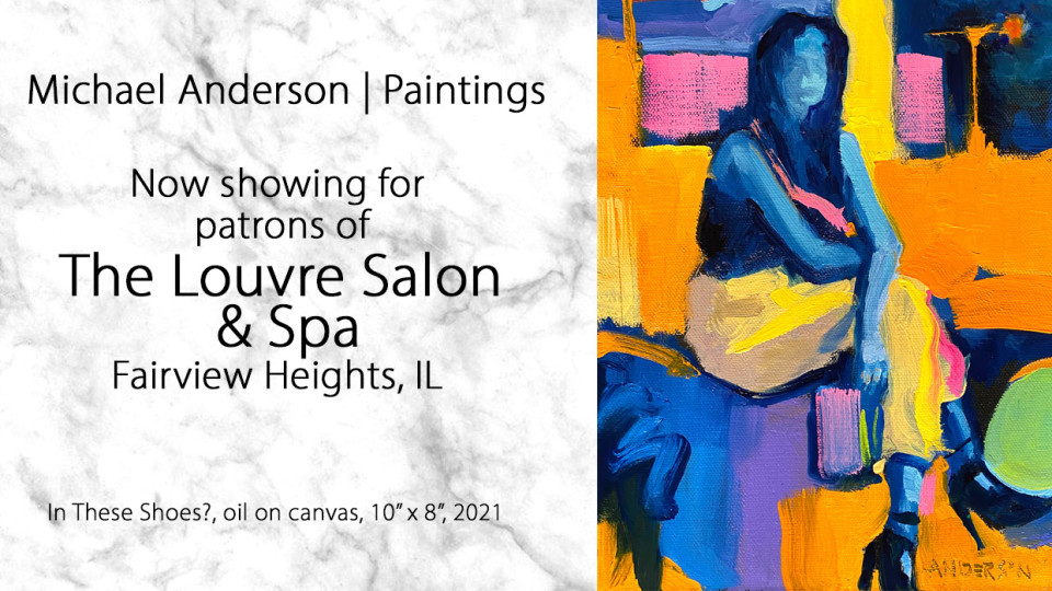 Michael Anderson Paintings at The Louvre Salon & Spa