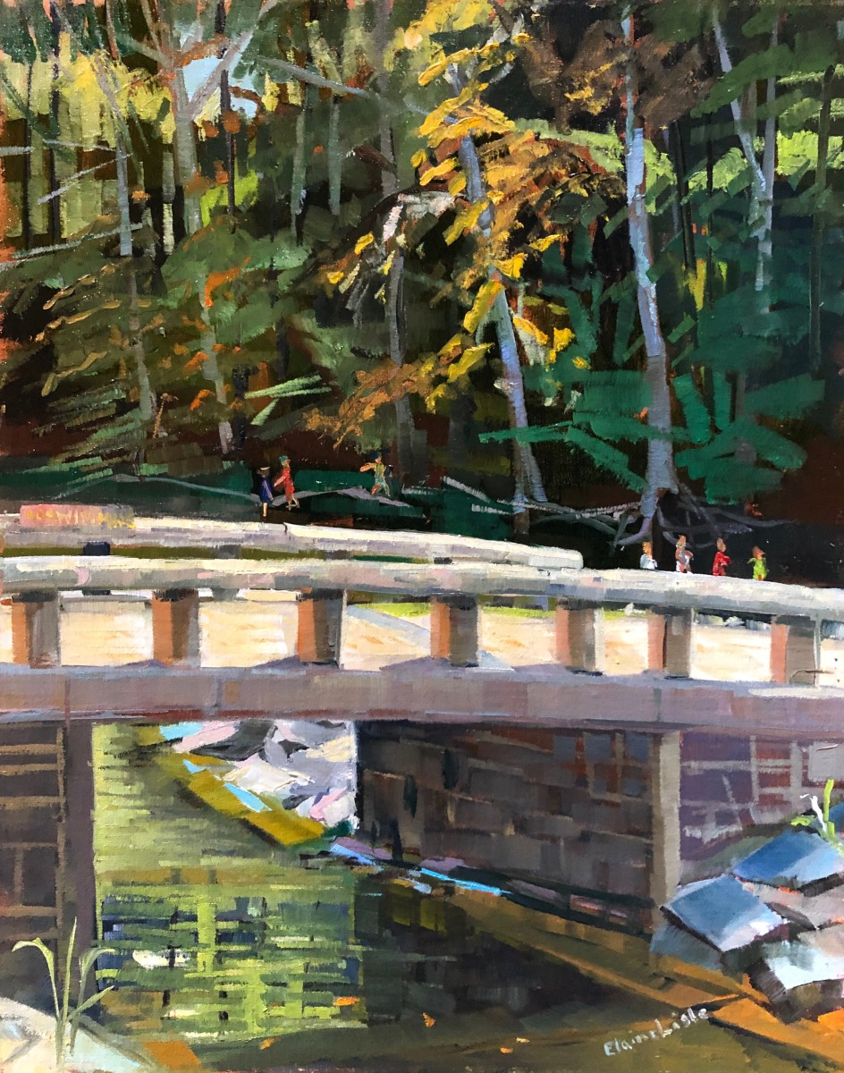 Playing by the Creek by Elaine Lisle