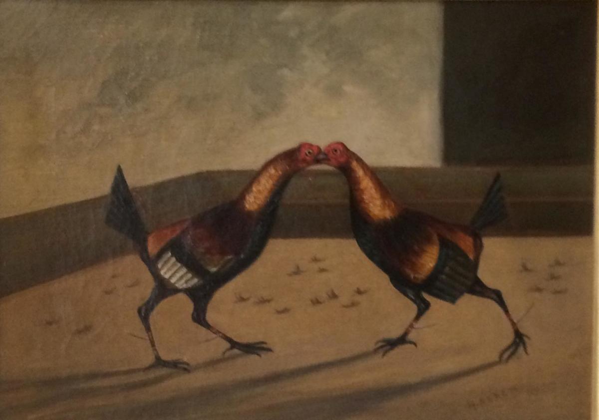 Fighting Cocks (set of 4)