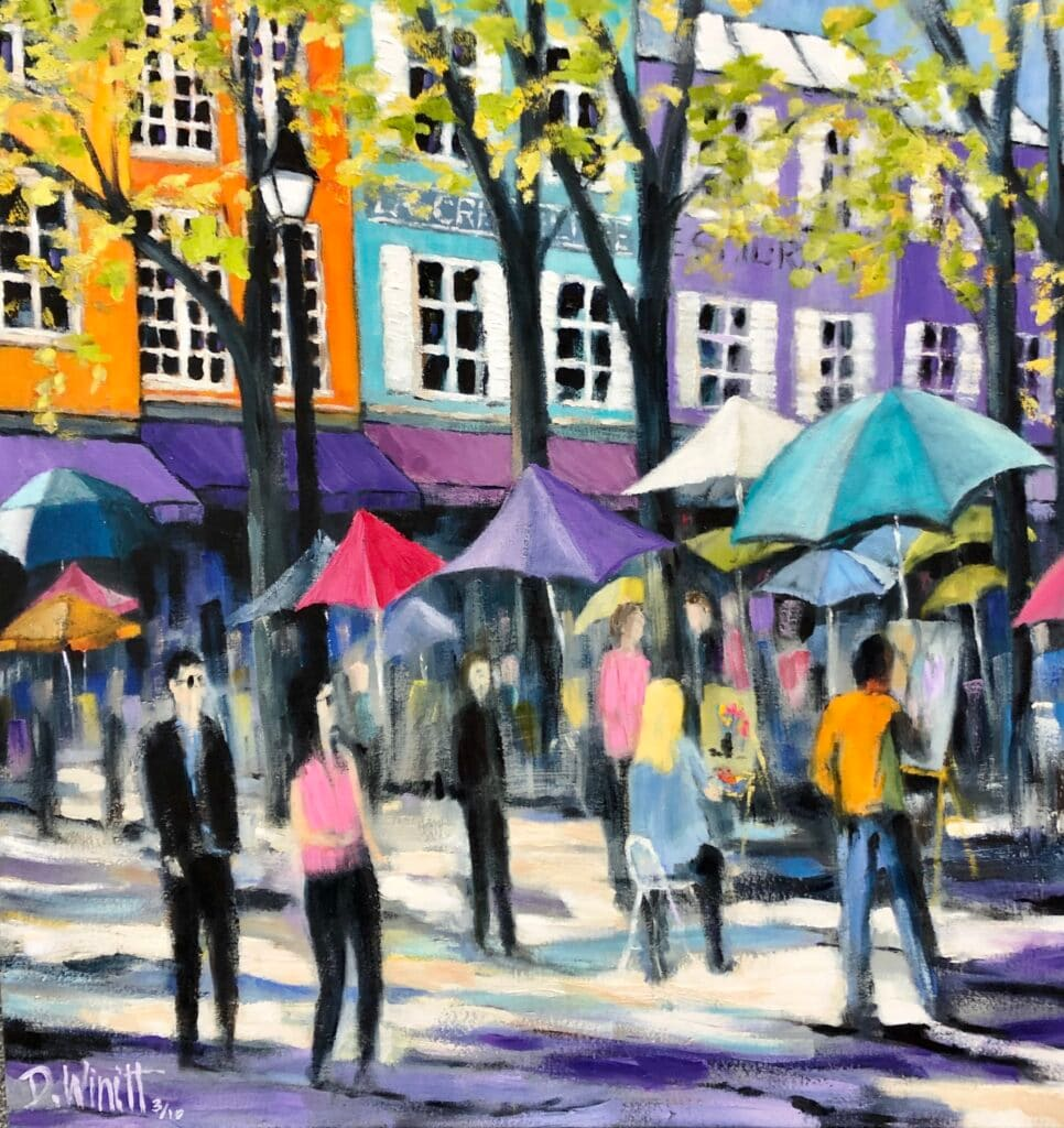The Art Market in Montmartre by David Winnitt