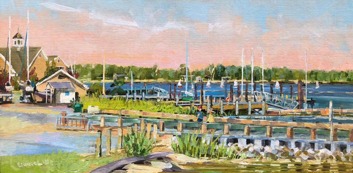 Sailing Camp Regatta by Elaine Lisle