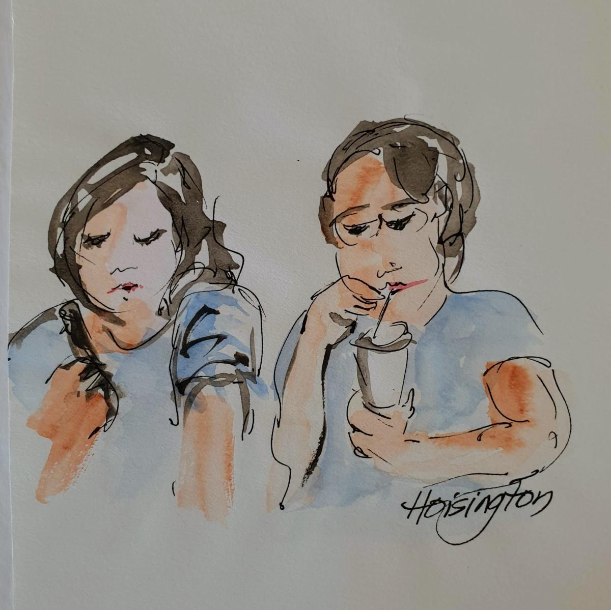 Brunching Pair by Kit Hoisington