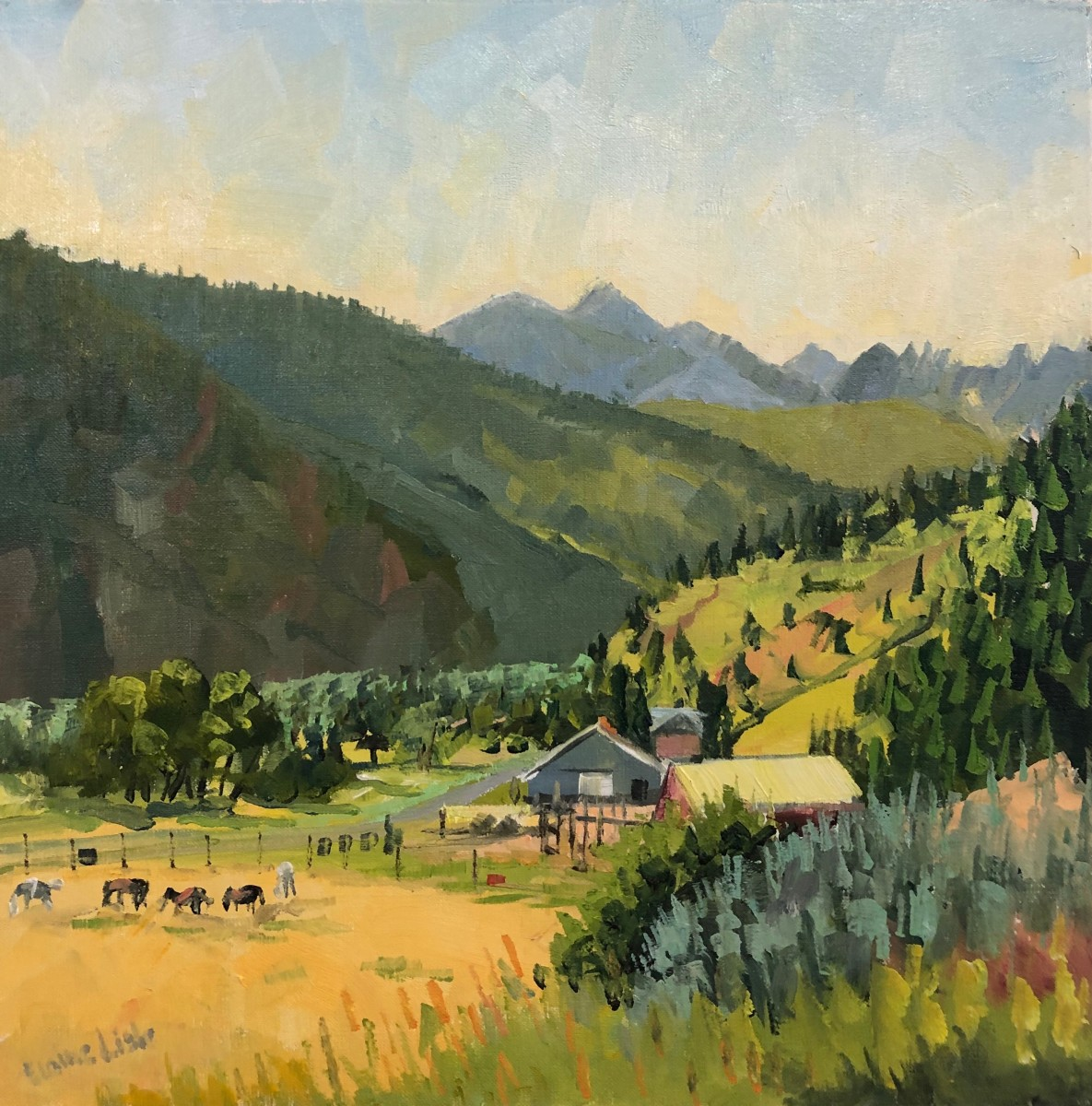 Morning View, WineGlass Ranch by Elaine Lisle