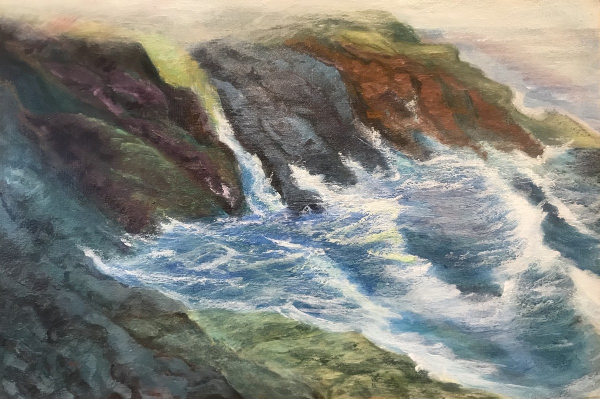 413 - Waves and Fog -The Mystery of it All; Rocky Creek by Katy Cauker