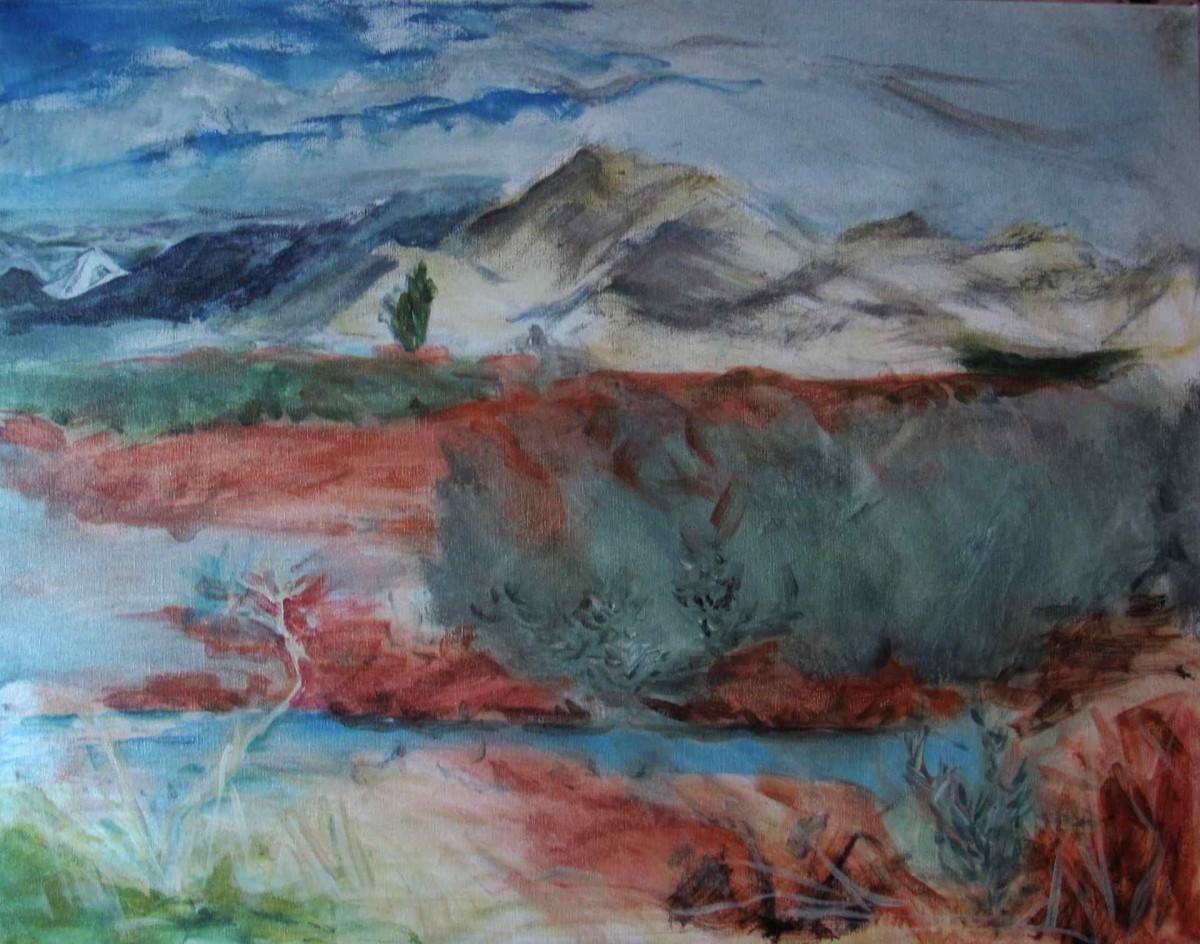 117- Art Presence Special - White Mountain & Red Dock/ Klamath Wildlife Refuge/ Stark Beauty by Katy Cauker