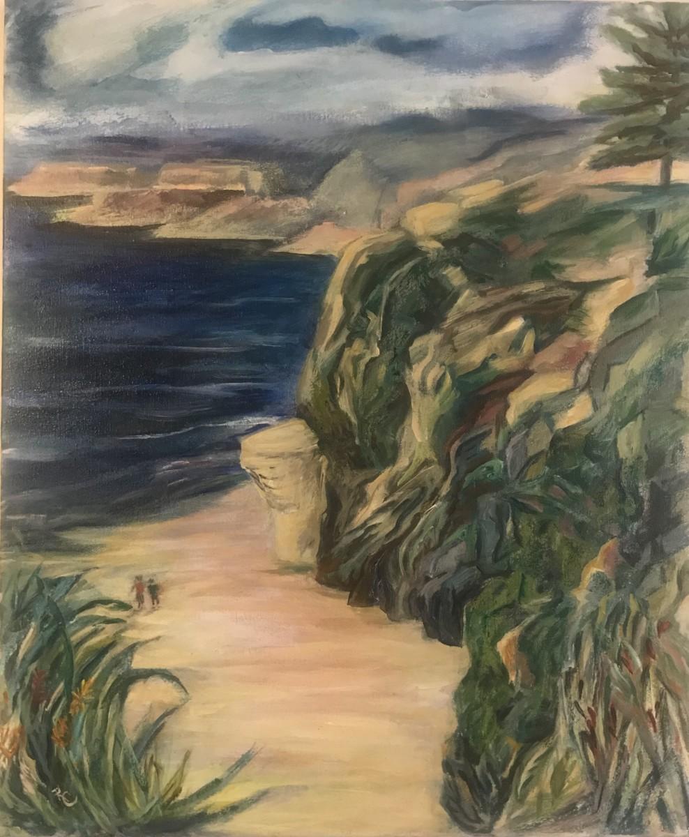 Beach Walkers II - Where the Pacific Meets Oregon 7167 -View North - Cape Arago