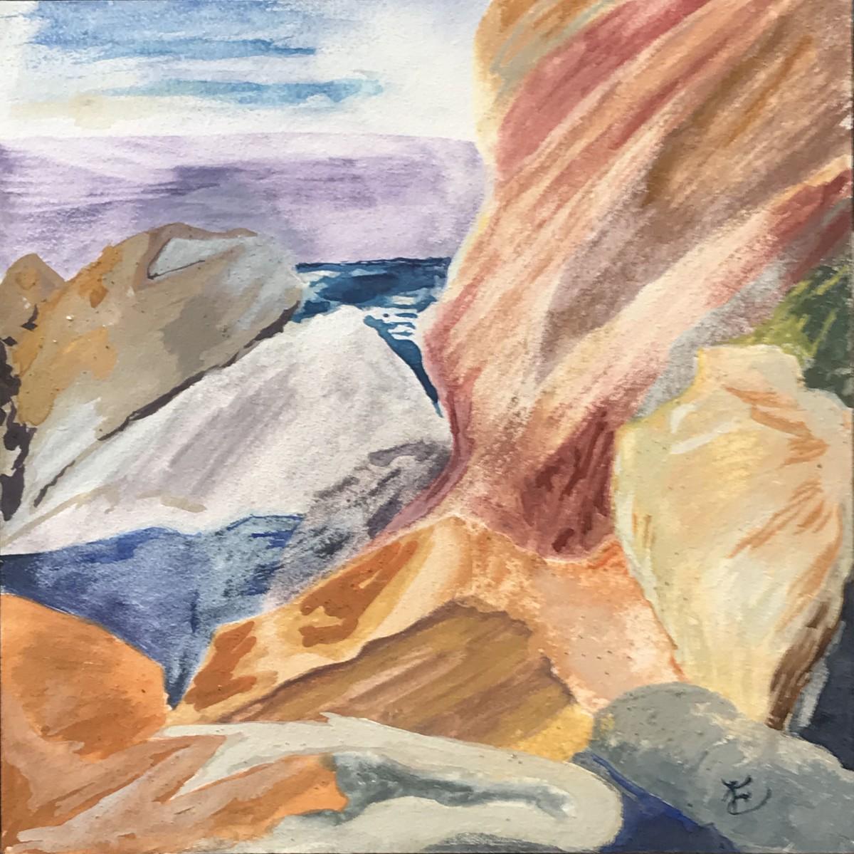 525- In the Blazing Sun / Cliffs at Harris Beach