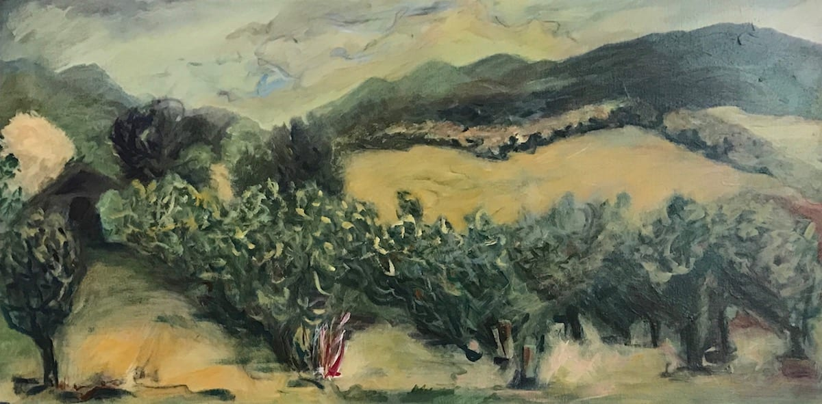 5-158 - Late Summer Rogue Valley / Orchard - Carpenter Hill Rd; Hallie Ford Gallery UVAA by Katy Cauker