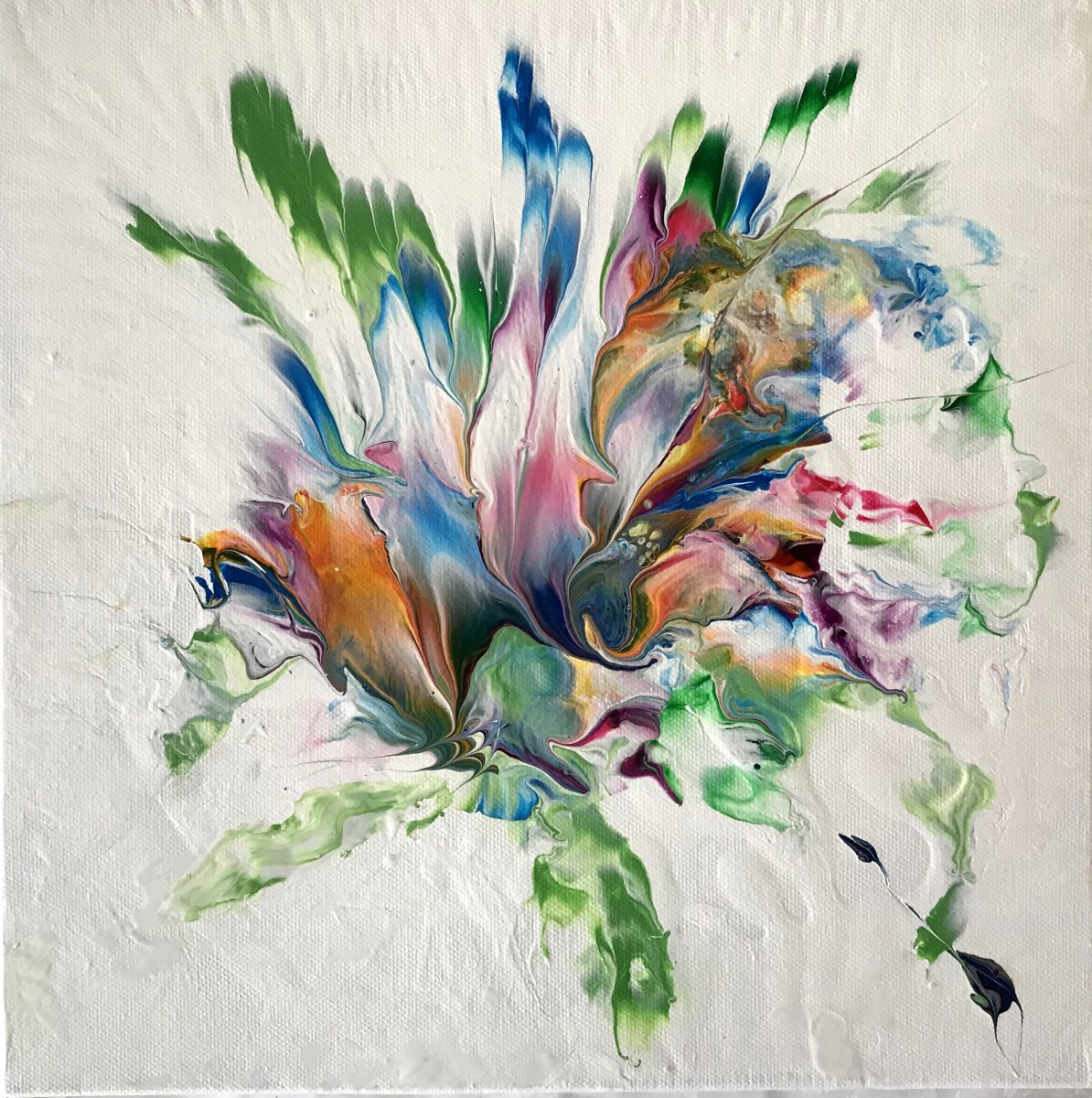 Floating Ocean Flowers: Three by Mari O'Brien