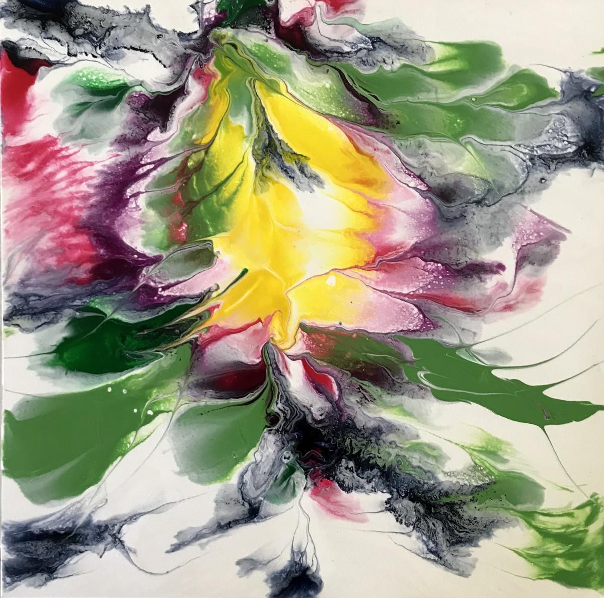 Floating Ocean Flowers: Four by Mari O'Brien