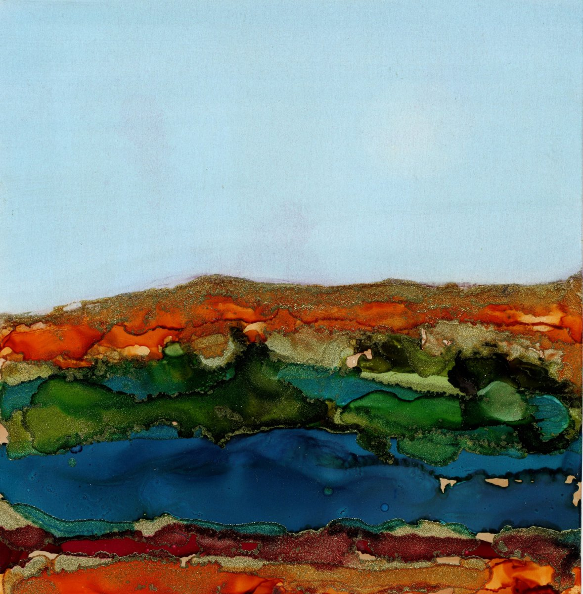 African Dreamscapes: Landscape with River by Mari O'Brien