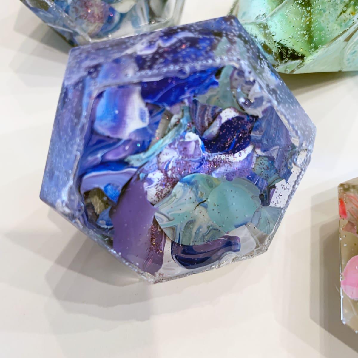 Diamond in the Rough - Blue Purple - Acrylic Skins #1 by Susi Schuele