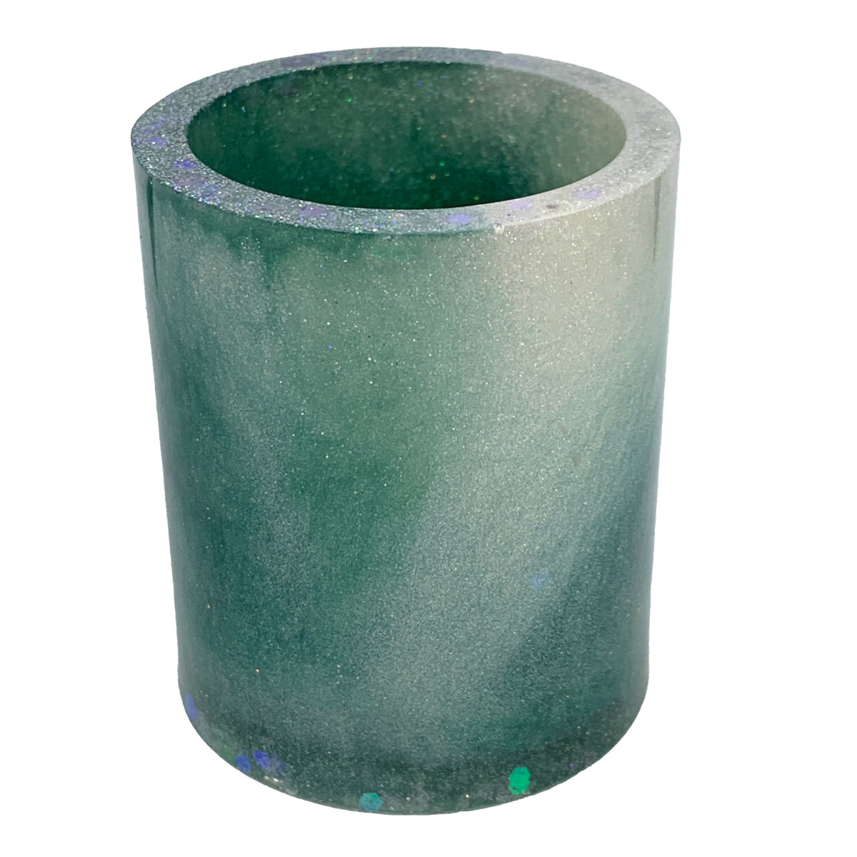 Resin Cylinder - Teal It Sparkles #7 by Susi Schuele