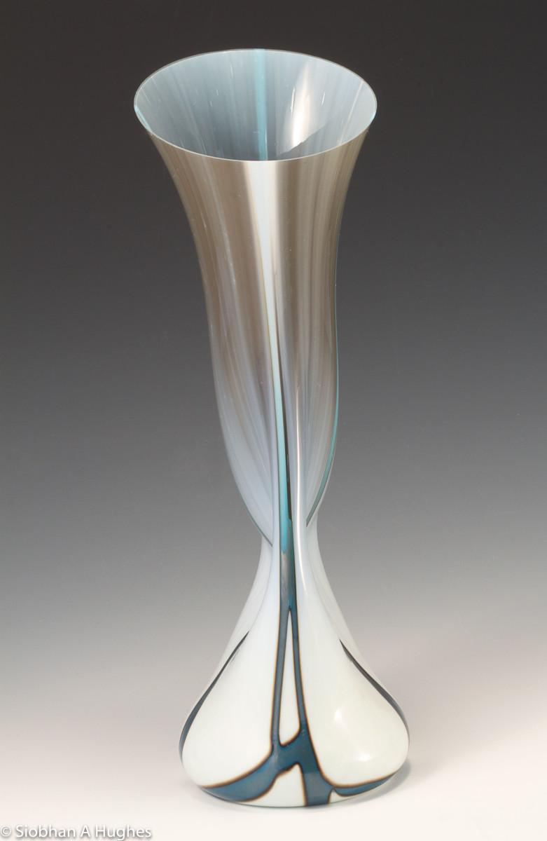 Kintsugi Vessel-Silver Blue by Siobhan Hughes