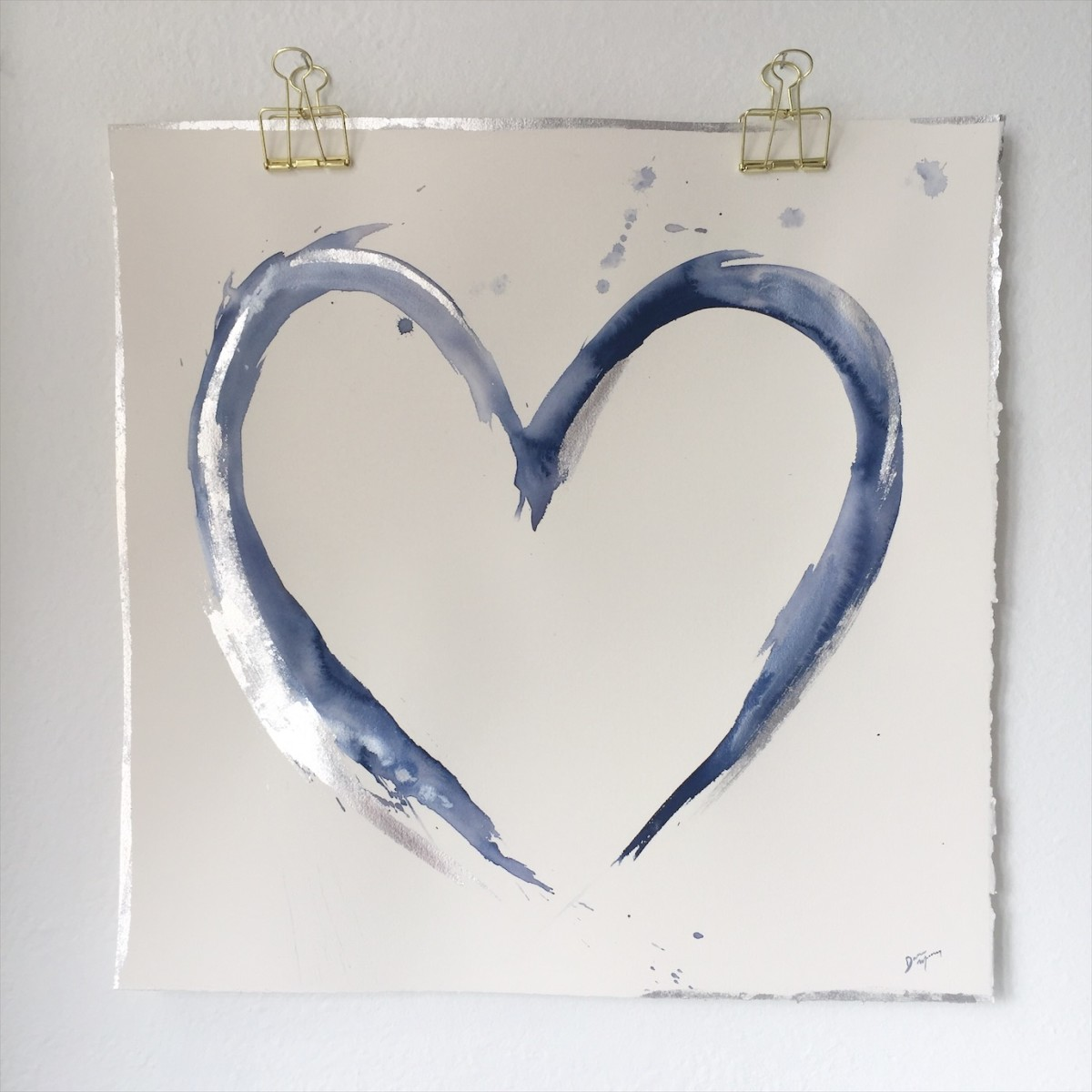 Blue and Silver Heart 2