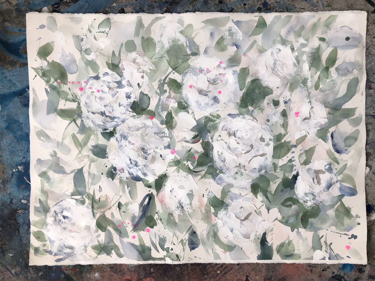 Garden of Peonies by Dana Mooney