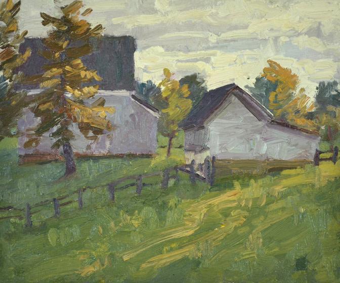 Late Day Barns