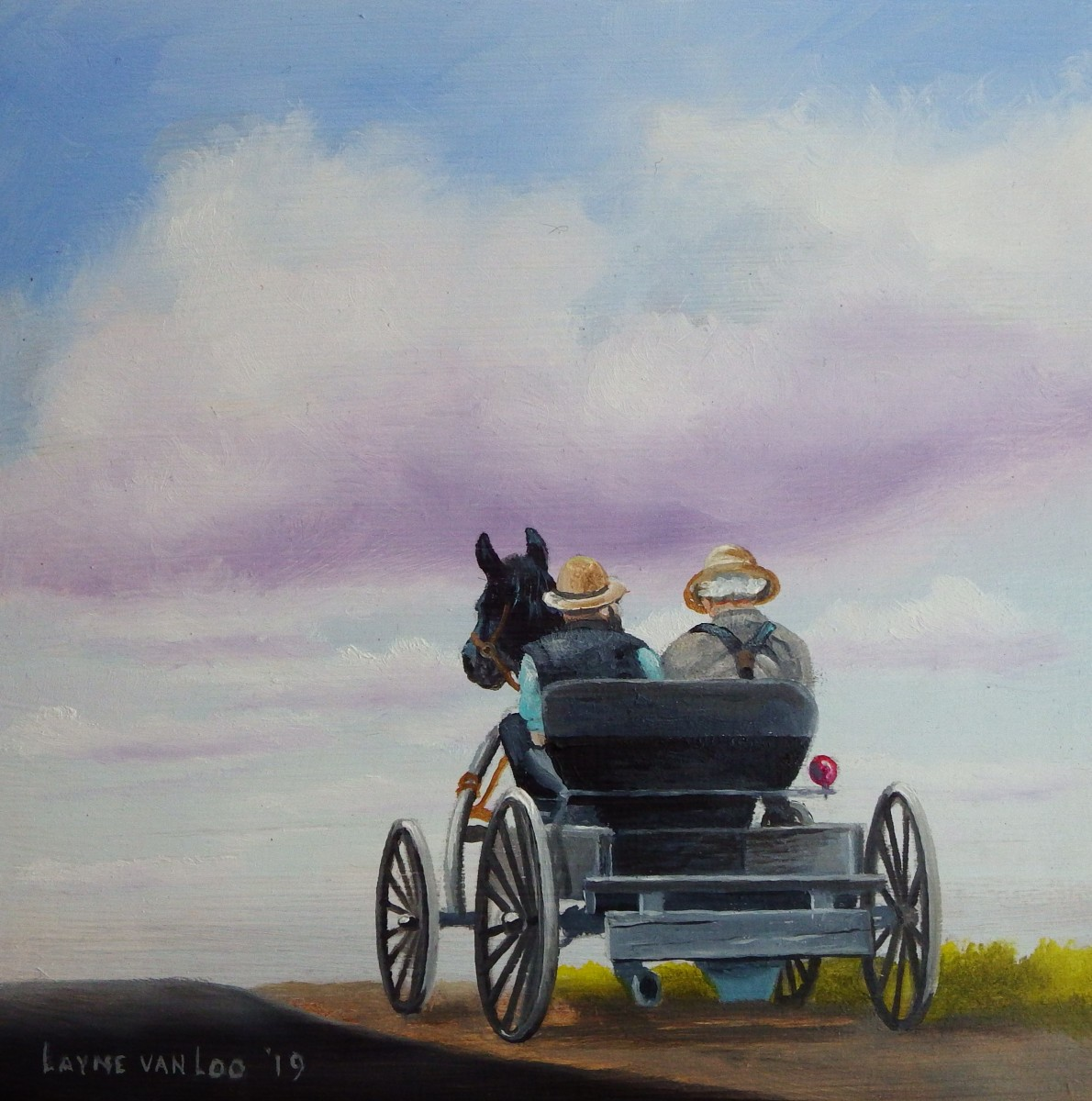 """Heading to Town"" by Layne van Loo"
