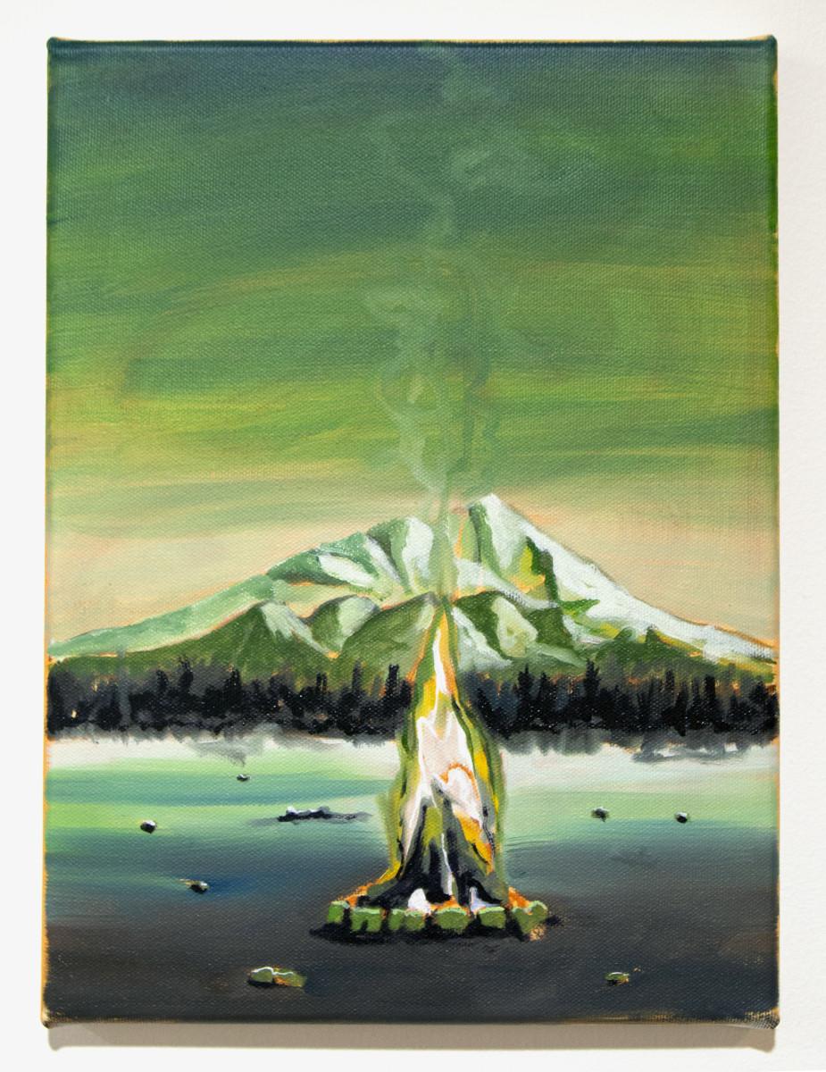Little Green Campfire by Mathew Tucker
