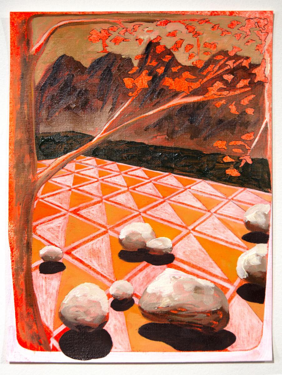 Orange Tiles on Paper by Mathew Tucker