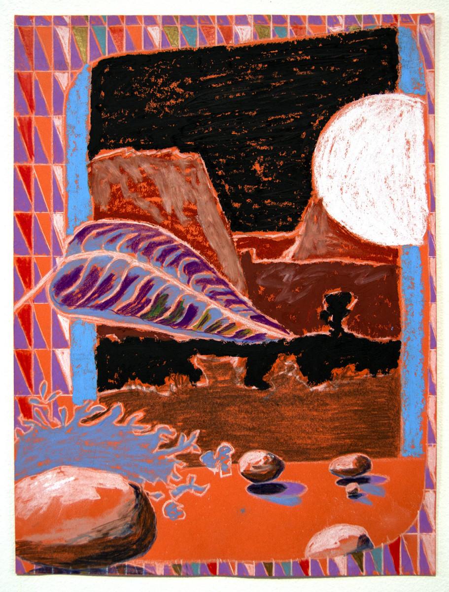 Orange and Blue Paper Landscape by Mathew Tucker