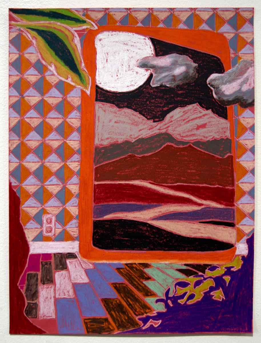 Orange and Purple Paper Landscape by Mathew Tucker