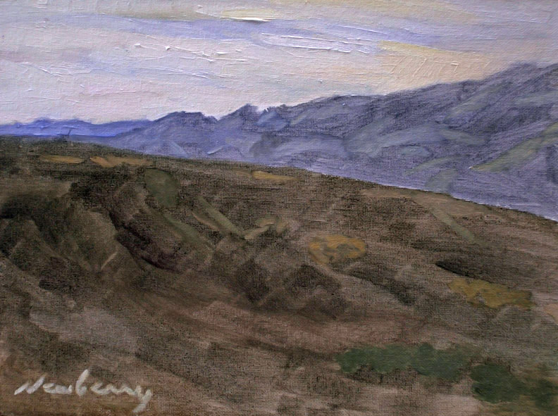 "Newberry, Arizona Road Trip Series, 2013, oil on panel, 9x12"" by Michael Newberry"