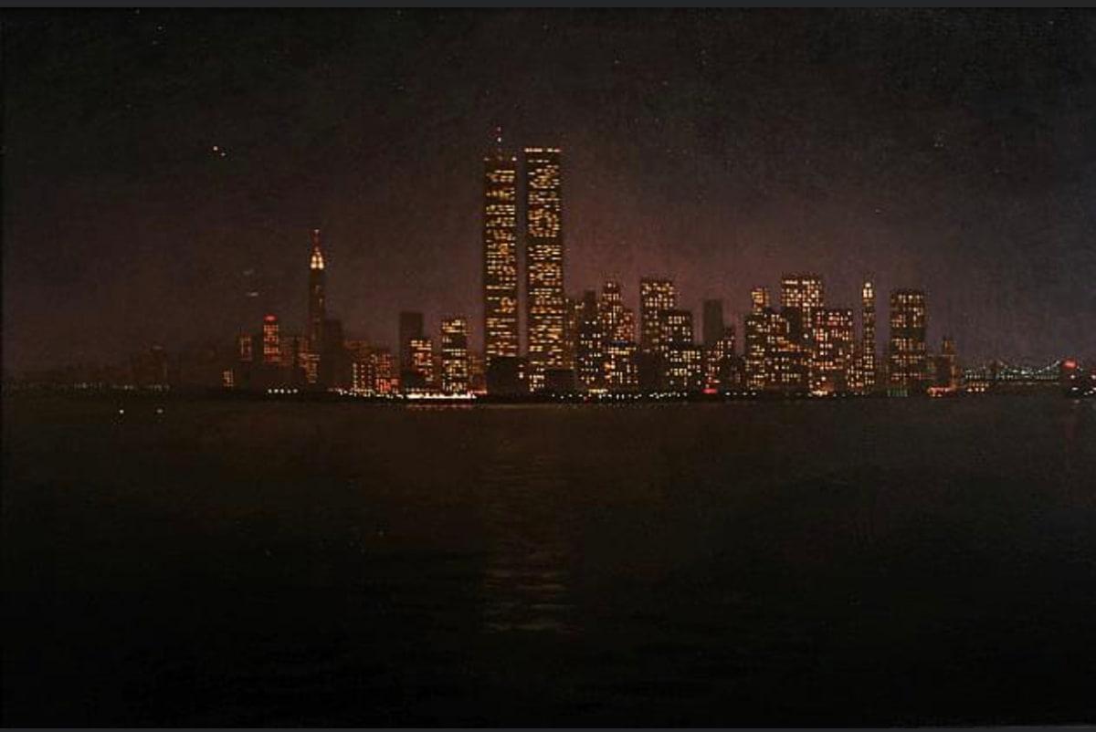 Manhattan at Night by Michael Newberry