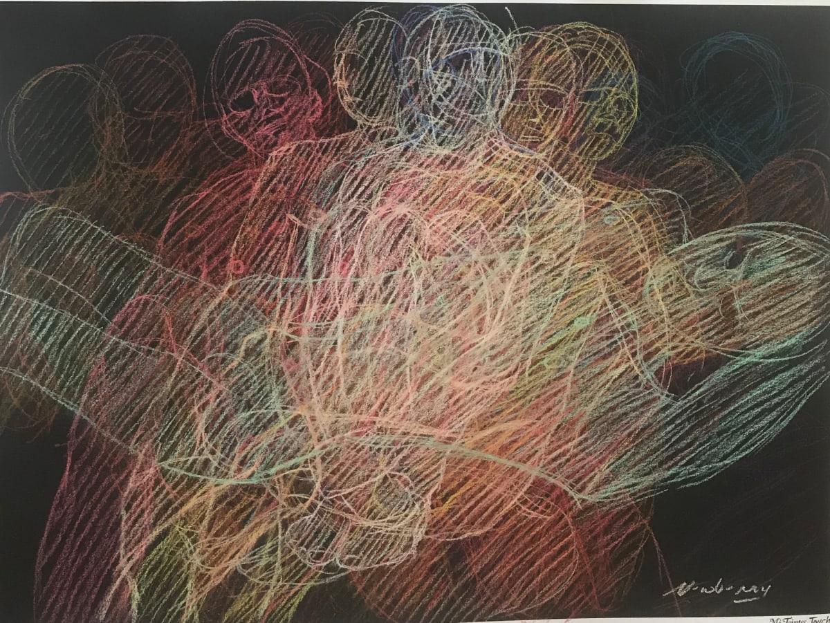 "Echoes, Newberry, 2020, pastel on dark paper, 22x30"" by Michael Newberry"