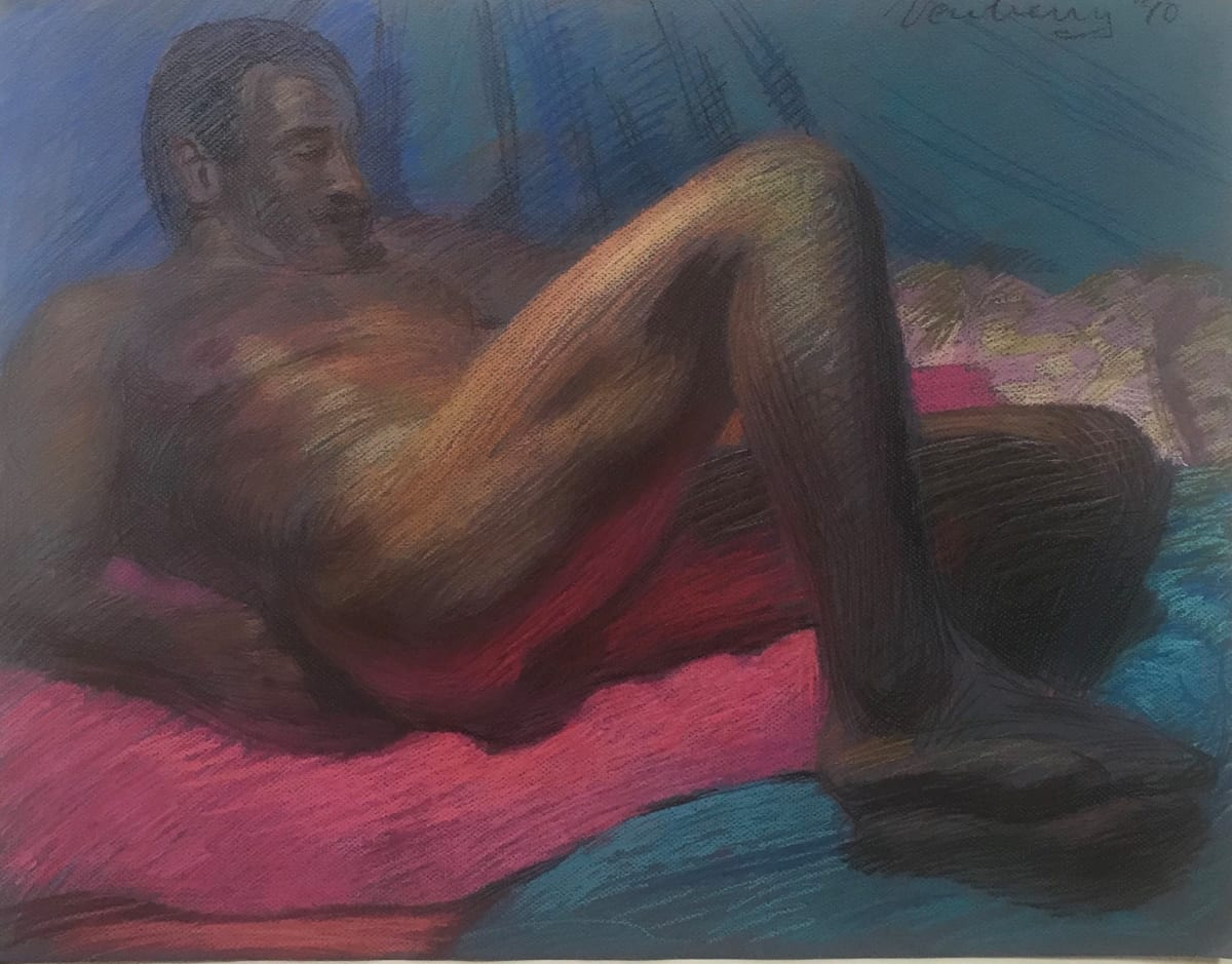 Nude Reclining on a Wool Blanket by Michael Newberry