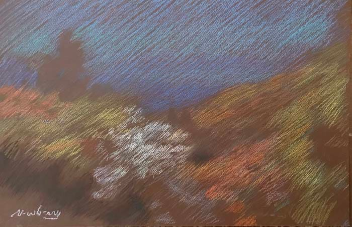 Newberry, Idyllwild Bend, pastel
