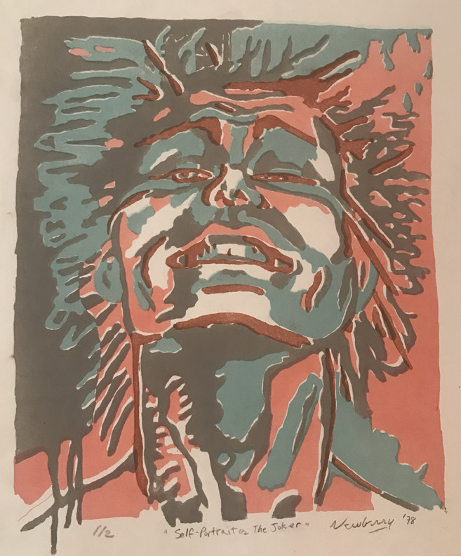 Newberry, Joker, 1978,  litho 1/2, 14x12""