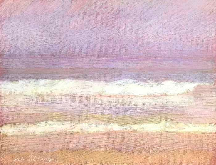 Apollo Beach Violet Peach and Gold by Michael Newberry