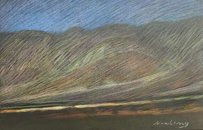 Newberry, Borrego Springs Slope, pastel by Michael Newberry