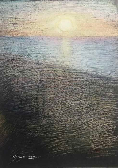 Ocean Avenue View Sunset by Michael Newberry