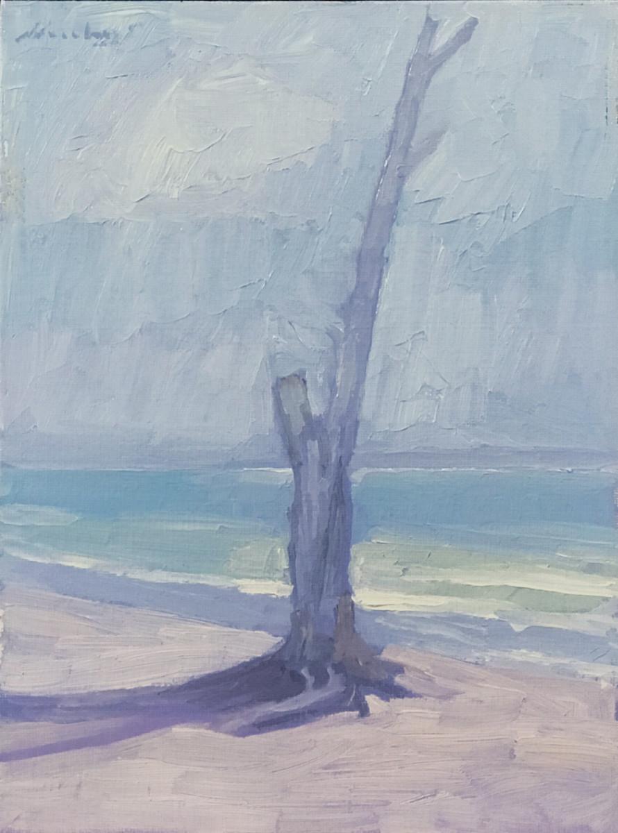 "Newberry, Solitude, 2005, oil on panel, 12x9"""