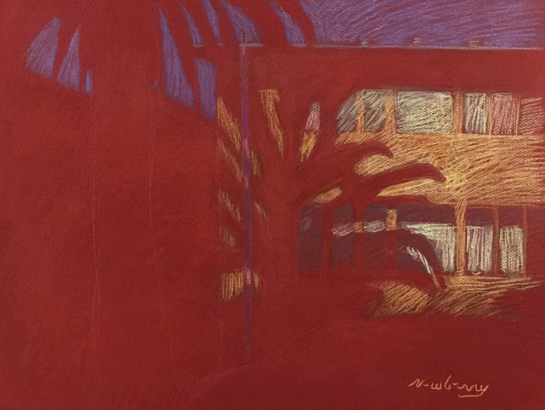 Red Palm by Michael Newberry