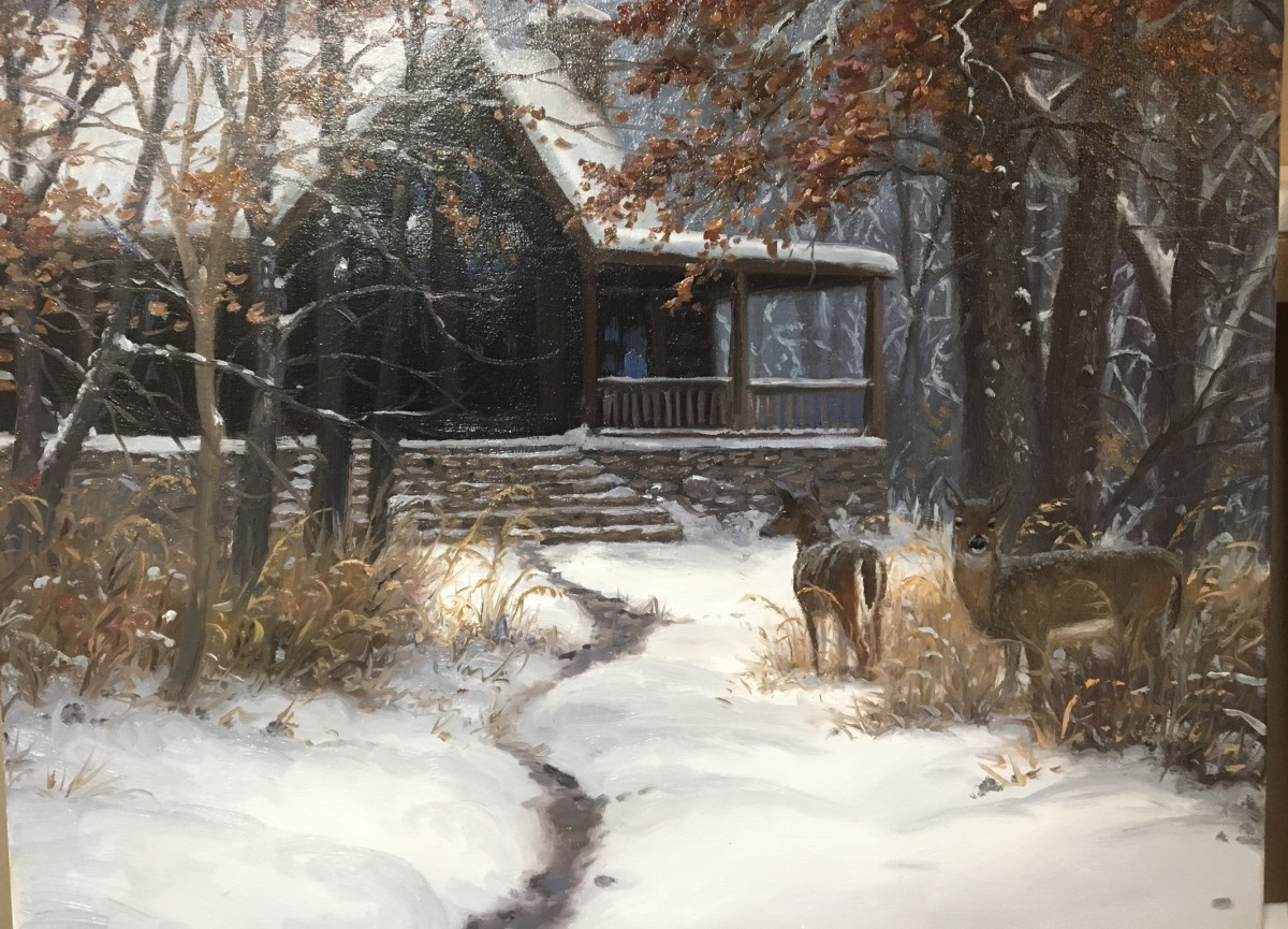 Cabin visitors by Mark Keathley
