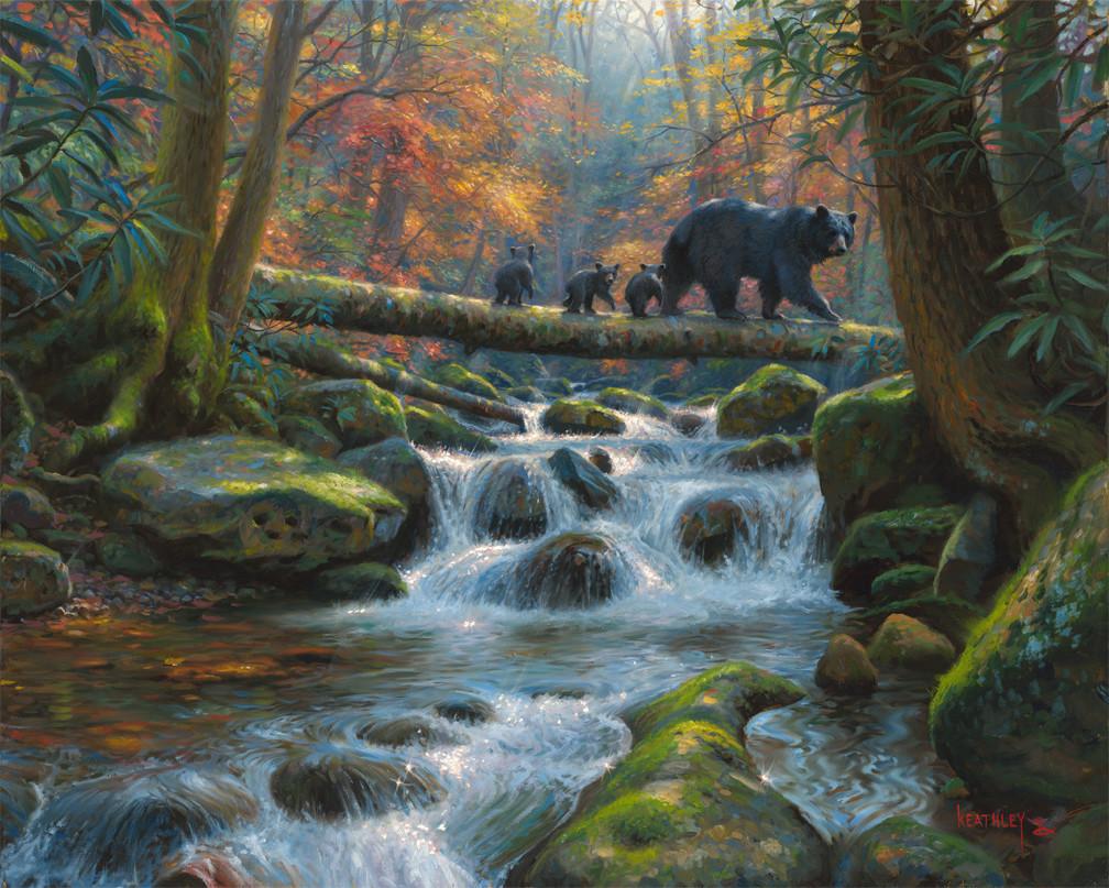 Precarious Crossing by Mark Keathley