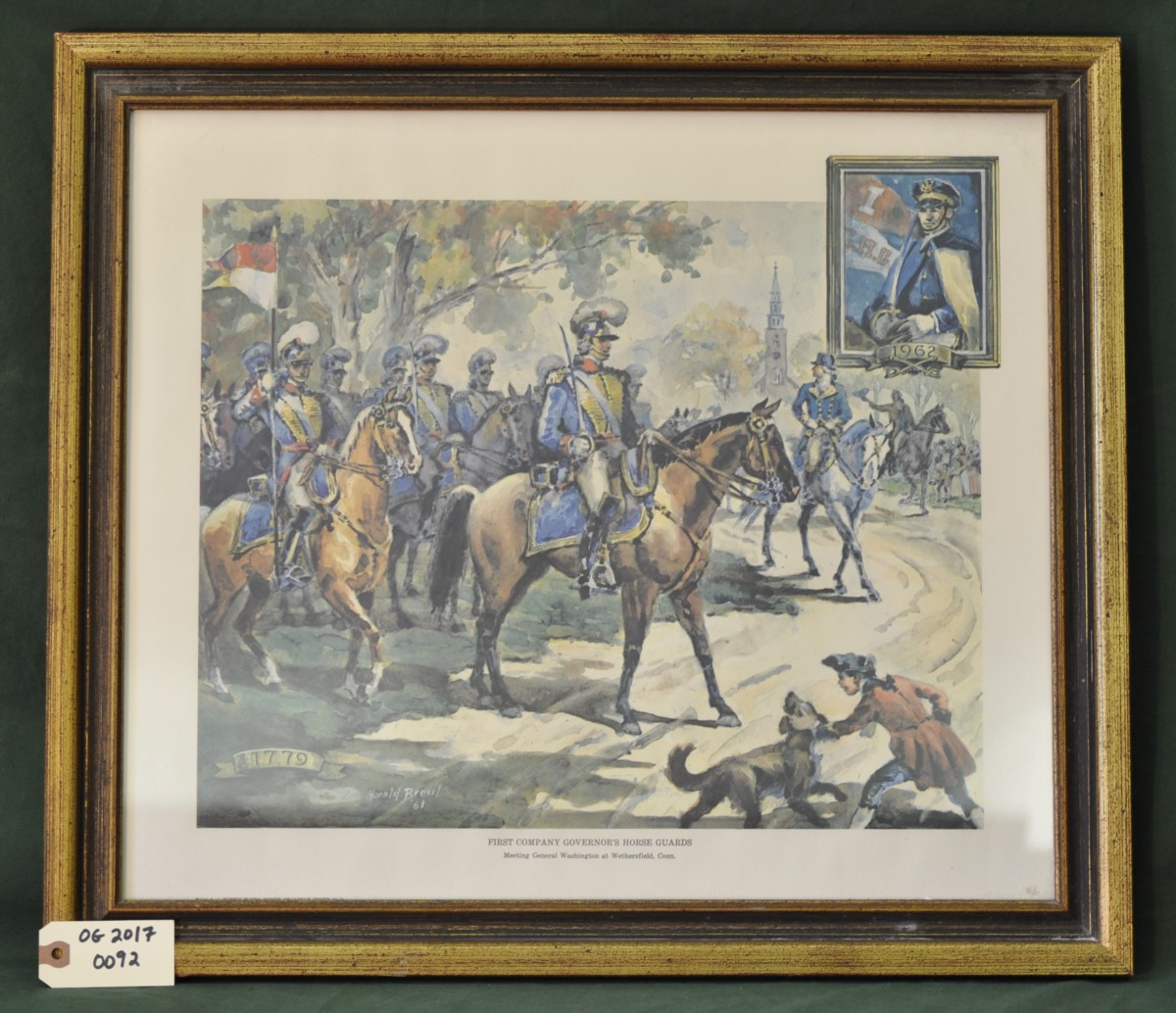 First Company Governor's Horse Guards Meeting General Washington at Wethersfield, Conn. by Harold Breul